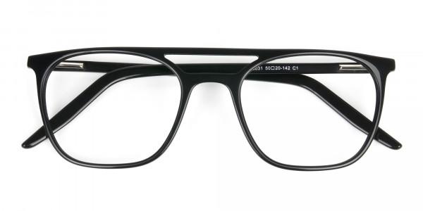 Black Aviator Spectacles in Acetate - 6