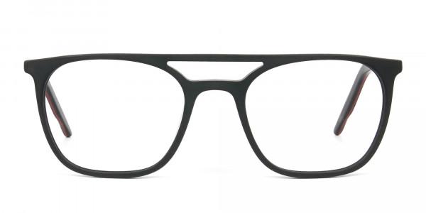 Matte Black Aviator Spectacles - 1