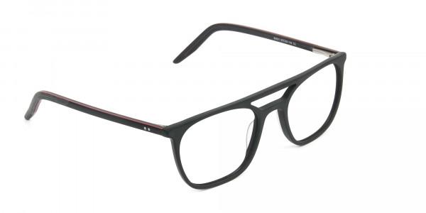 Matte Black Aviator Spectacles - 2