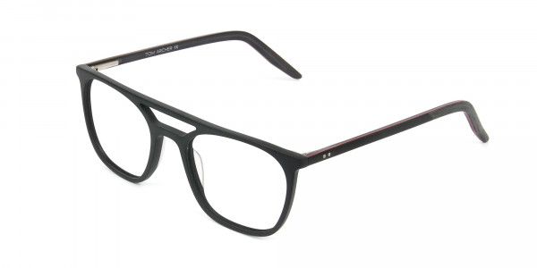 Matte Black Aviator Spectacles - 3