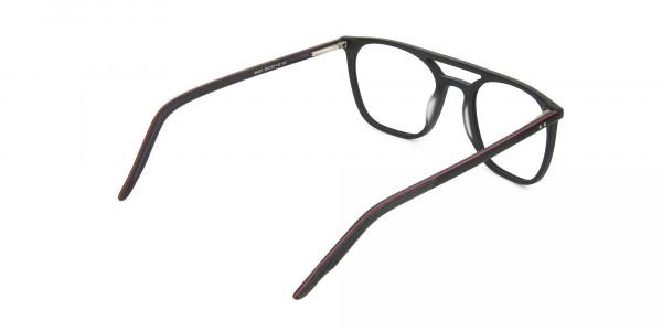 Matte Black Aviator Spectacles - 5