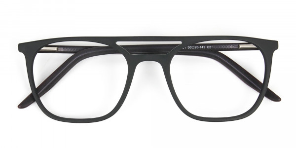 Matte Black Aviator Spectacles - 6