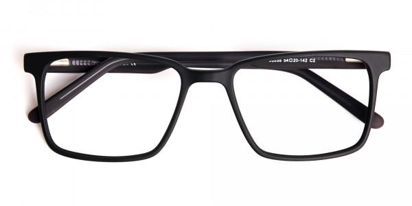 Matte-Black-Designer-Rectangular-Glasses-frames-6
