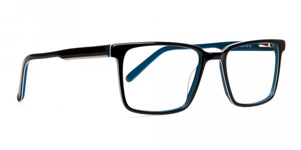 Black-and-Teal-Designer-Rectangular-Glasses-frames-2