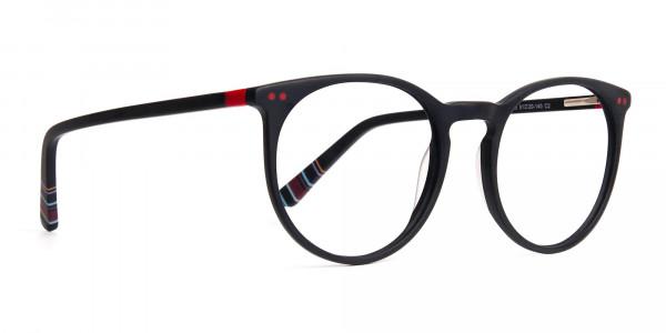 Matte-Black-Designer-Round-Glasses-frames-2