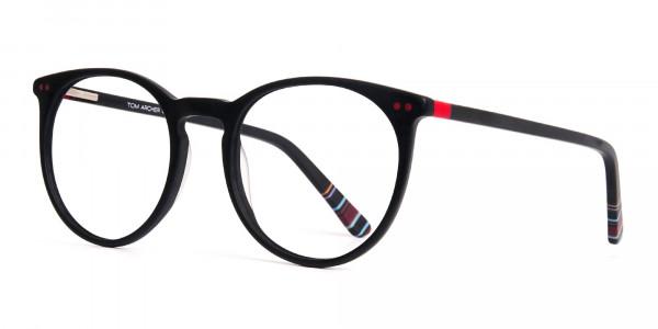 Matte-Black-Designer-Round-Glasses-frames-3