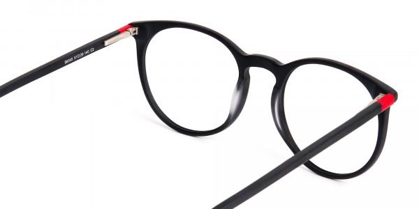 Matte-Black-Designer-Round-Glasses-frames-5