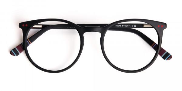 Matte-Black-Designer-Round-Glasses-frames-6