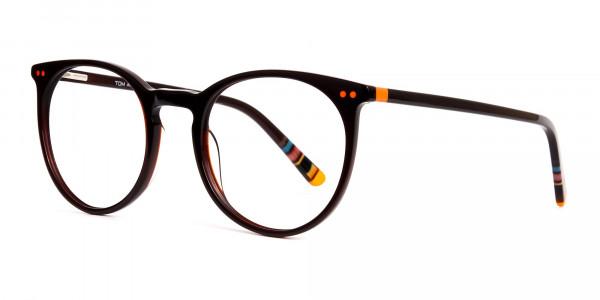 Dark-Light-Brown-Designer-Round-Glasses-frames-3