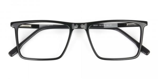 Unisex Black Rectangular Glasses - 6