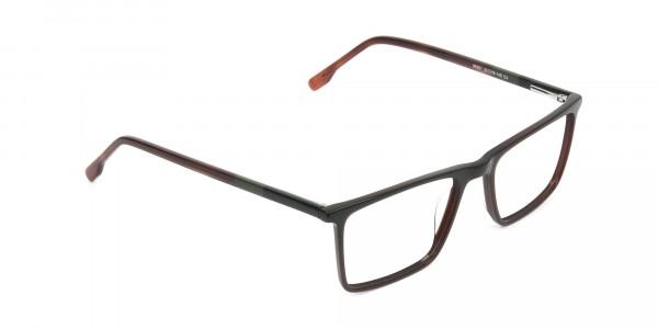 Dark Brown Rectangular Glasses - 2