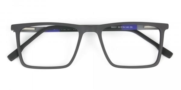 Black & Blue Rectangular Glasses - 6