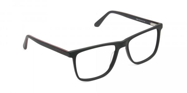 Matte Silver Grey Rectangular Glasses - 2