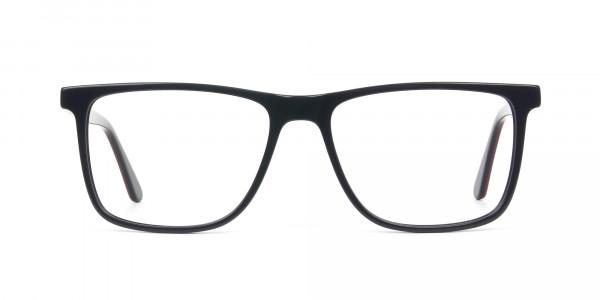 Geek Blue Rectangular Glasses in Acetate - 1