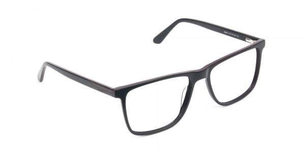 Geek Blue Rectangular Glasses in Acetate - 2
