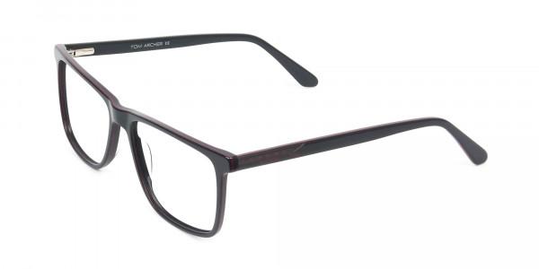 Geek Blue Rectangular Glasses in Acetate - 3