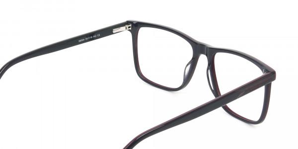 Geek Blue Rectangular Glasses in Acetate - 5
