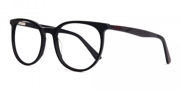 Designer-matte-Black-Full-Rim-Round-Glasses-Frames-3