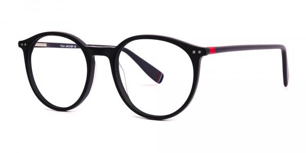 Matte-Dark-Grey-Round-Glasses-frames-2