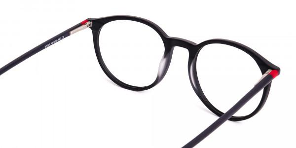 Matte-Dark-Grey-Round-Glasses-frames-5