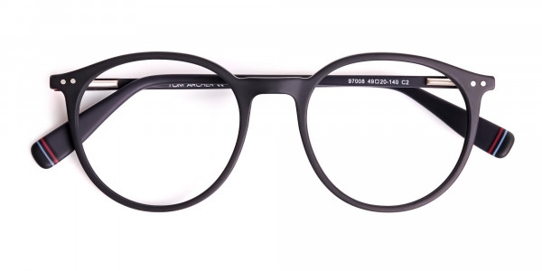 Matte-Dark-Grey-Round-Glasses-frames-6