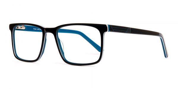 designer-Black-and-teal rectangular-glasses-frames-3