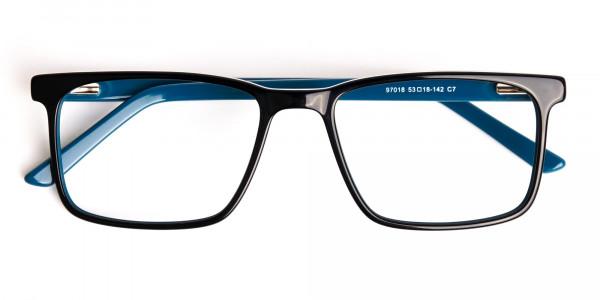 designer-Black-and-teal rectangular-glasses-frames-6