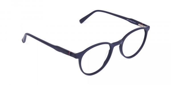blue light glasses round frame-2