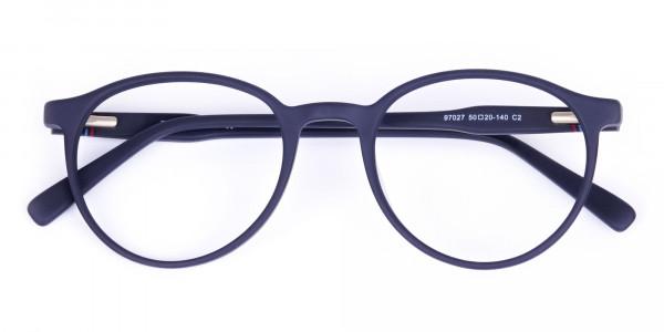 blue light glasses round frame-6