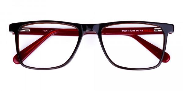 Dark-Brown-Rimmed-Rectangular-Glasses-6