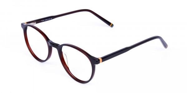 Dark-Brown-Rimmed-Round-Glasses-3