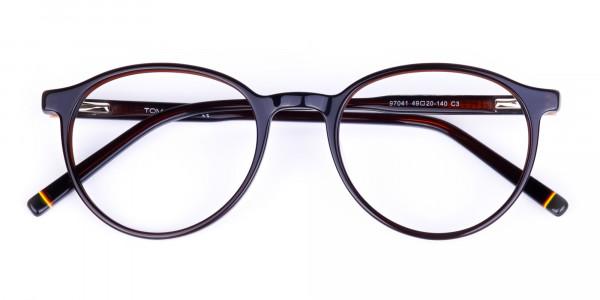 Dark-Brown-Rimmed-Round-Glasses-6
