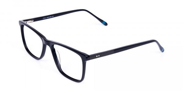 Teal-and-Black-Rectangle-Eyeglasses-3