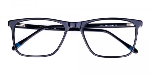 Teal-and-Black-Rectangle-Eyeglasses-6
