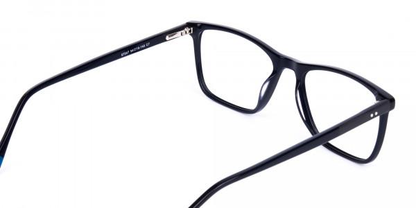 Teal-and-Black-Rectangle-Eyeglasses-5