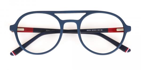 Turquoise Green & Dark Blue Double bridge Glasses -6