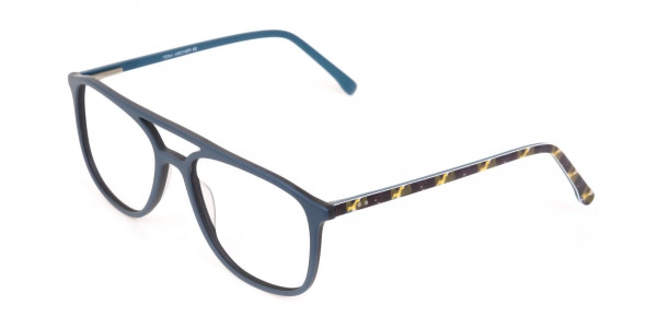 Double Bridge Frame in Turquoise & Camouflage Green -3