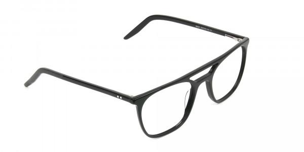 Black Aviator Spectacles in Acetate - 2
