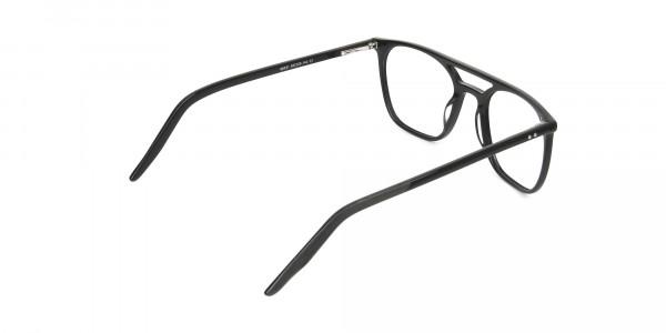 Black Aviator Spectacles in Acetate - 5