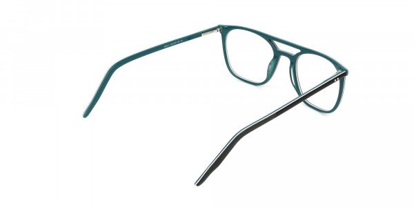 Black & Teal Aviator Spectacles - 5