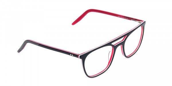 Red & Navy Blue Aviator Spectacles - 2