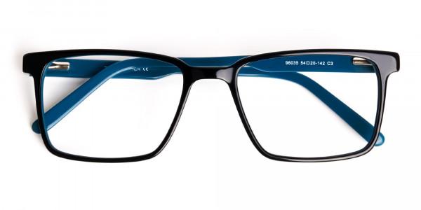 Black-and-Teal-Designer-Rectangular-Glasses-frames-6
