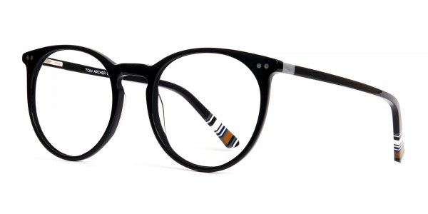 Black-Round-Designer-Glasses-frames-3