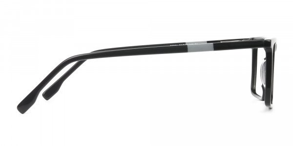 Unisex Black Rectangular Glasses - 4