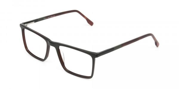 Dark Brown Rectangular Glasses - 3