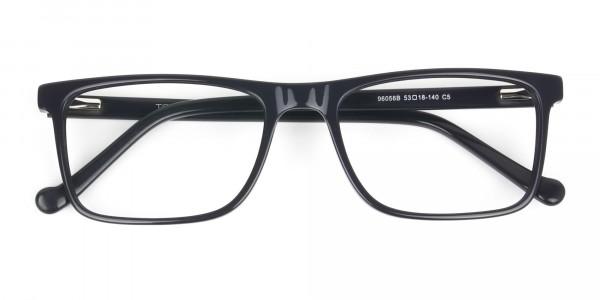 Round Temple Tip Red & Purple Eyeglasses in Rectangular  - 6