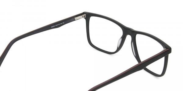 Designer Matte Black Spectacles Rectangular Men Women - 5