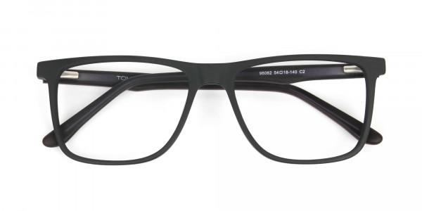 Designer Matte Black Spectacles Rectangular Men Women - 6