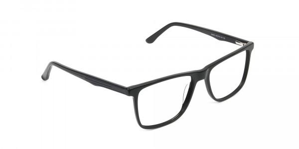 Dark Grey Acetate Glasses in Rectangular - 2