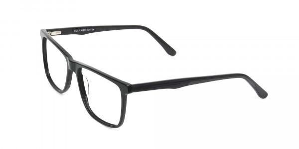 Dark Grey Acetate Glasses in Rectangular - 3